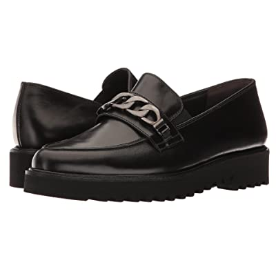 Paul Green Maria Loafer (Black Leather) Women
