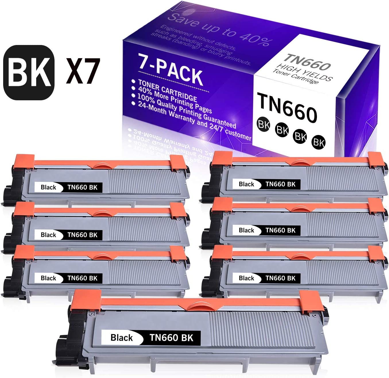 7-Pack Some reservation Black Compatible OFFer Toner Cartridge Replacement for Brother