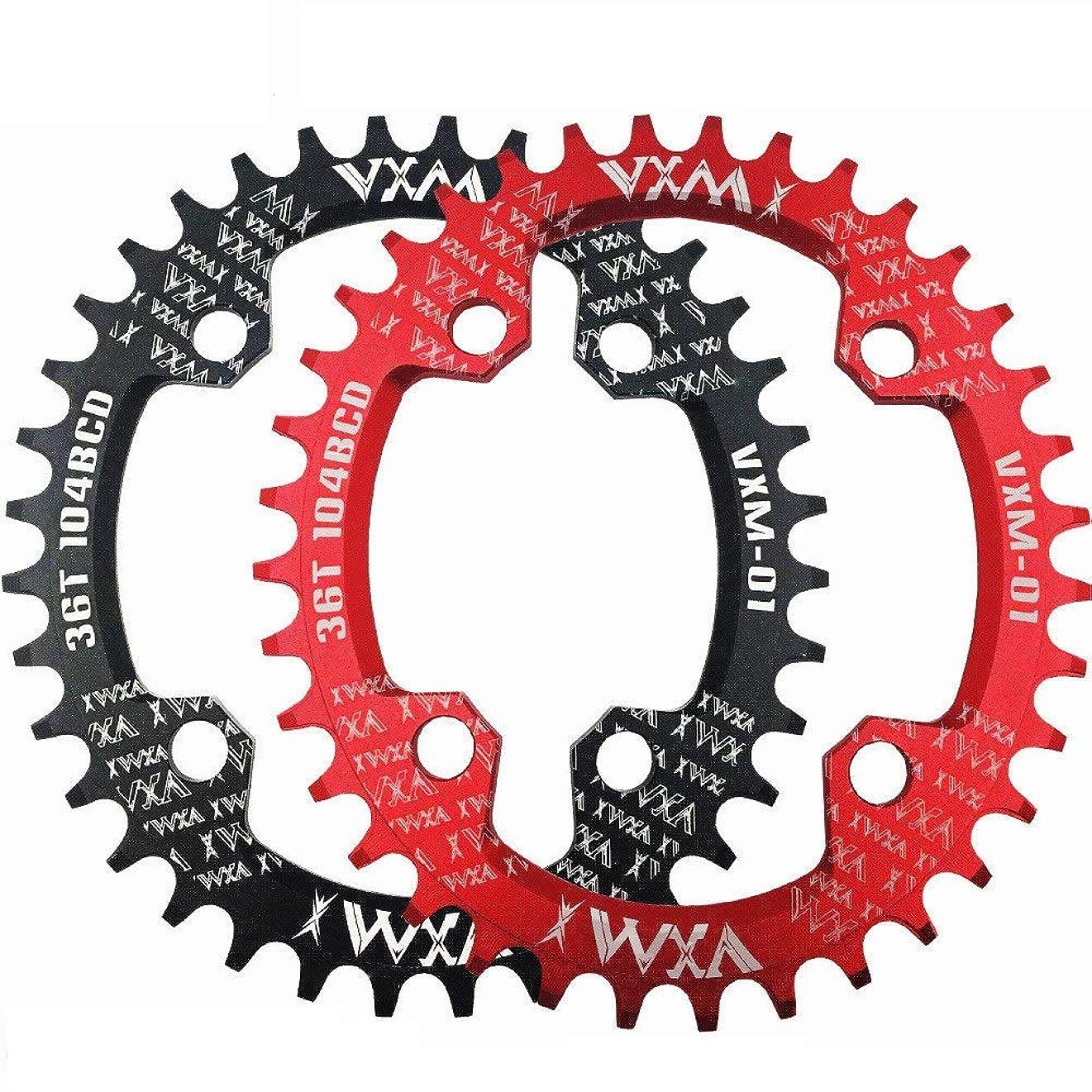 鉄犯すマディソンバイクチェーンリング 32T 34T 36T 38Tバイクラウンド/オーバルチェーンリング104BCDチェーンホイールナローワイドチェーンリング(ロードバイク、マウンテンバイク、BMX MTBバイク用) ロードバイク、マウンテンバイク、BMX MTBバイク用 (色 : ブラック, サイズ : Oval 32T)