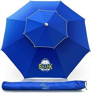 OCOOPA Parapluie de plage, parapluie de 7,2 pieds avec mât en aluminium ultra-respirant et inclinable, parapluie de plage ...