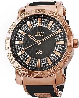 ساعة فاخرة للرجال 562 مرصعة بعدد 12 قطعة من الماس مع مينا مسطحة من جيه بي دبليو