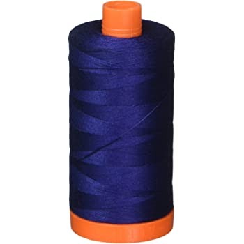 Dark Navy Aurifil Mako 50wt Thread 2 Large Spools in Various Colors 2784