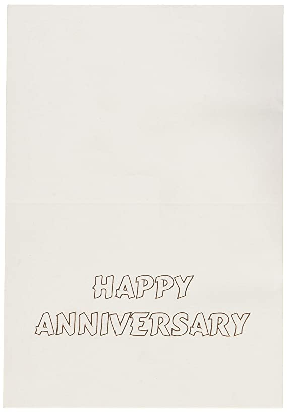 Fine Invite Papers 10 Piece Foil Stamped Happy Anniversary Cards, Rose Gold