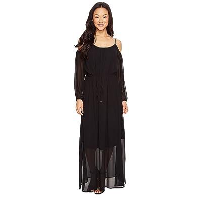 Calvin Klein Off Shoulder Maxi Dress (Black) Women