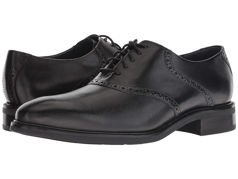 Cole Haan Buckland Saddle Oxford (Black/Black) Men