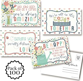 """Thinking of You Blank Postcards To Send To Friends & Family, Total of 100 4""""x6"""" Fill In Notecards (25 of each design) by AmandaCreation"""
