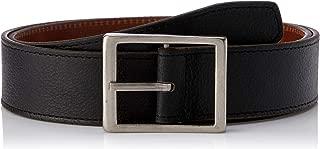 Loop Leather Co Men's Two Face Men's Reversible Leather Belt, Black/Diesel Tan