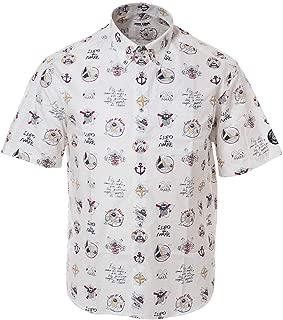 SINA COVA Short Sleeve Button-Down Shirt Button-Down Shirt Short Sleeve Shirt Casual Shirt Print Design Shirt Patterned Shirt Shirt Cotton Broad Men's Marine wear Golf wear 19124540