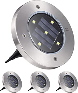 Solar Garden Light, YUNLIGHTS 5 LED Solar Ground Lights Waterproof Patio Light with Dark Sensing for Lawn Pathway Yard Dri...