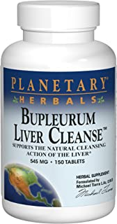 Planetary Herbals Bupleurum Liver Cleanse 545 mg Supports the Natural Cleansing Action of the Liver - 150 Tablets