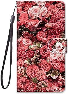 جراب محفظة ملون لهاتف Samsung Galaxy S21 Plus، جراب قلاب مغناطيسي من الجلد الصناعي مع فتحات للبطاقات وحزام معصم