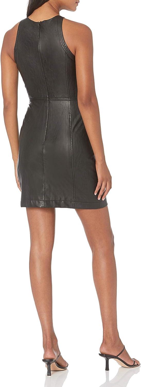 AX Armani Exchange Women's Eco Leather Stretch Sleeveless A-line Dress