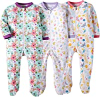 Organic Cotton Zip Front Sleep and Play Sleeper 0-24 Months Marquebaby Baby Footed Pajama