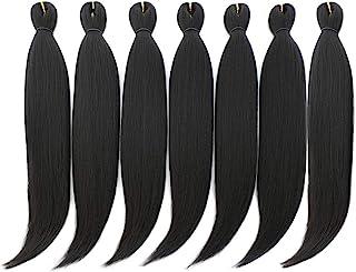 DAN NING 24 '' Pre-stretched Braiding Hair Original Kanekalon Braid Hair Extensions Yaki Texture Crochet Twist Hair Braids...