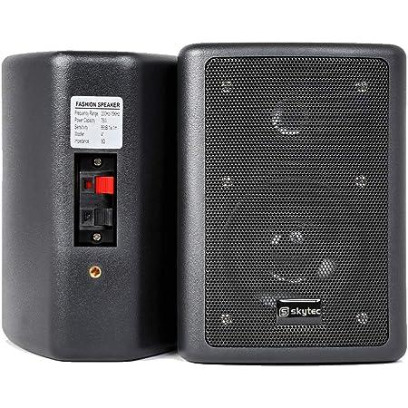 2x Skytec Passive Black 2-Way HiFi Surround Speakers 75W