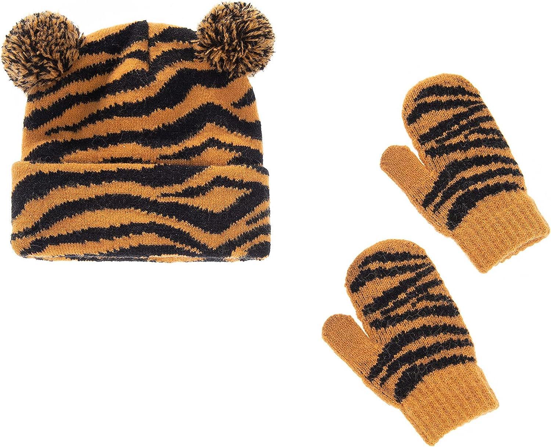 Children's Pom Winter Hat Beanie Wint Mitten Set 2 Sale price Discount mail order Baby