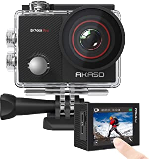 AKASO EK7000 Pro 4K Action Camera with Touch Screen EIS Adjustable View Angle Web Camera 40m Waterproof Camera Remote Cont...