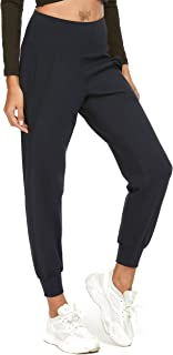 Sweatish Womens Joggers with Pockets, High Waisted Lightweight Tapered Pants for Yoga Workout Running