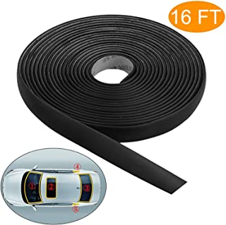 Linkhood 5M/16FT Auto Seal Weather Stripping Rubber Sealing Strip Trim Cover for Car Front Rear Windshield