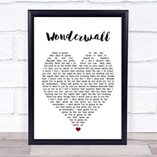 Wonderwall Heart Quote Song Lyric Print