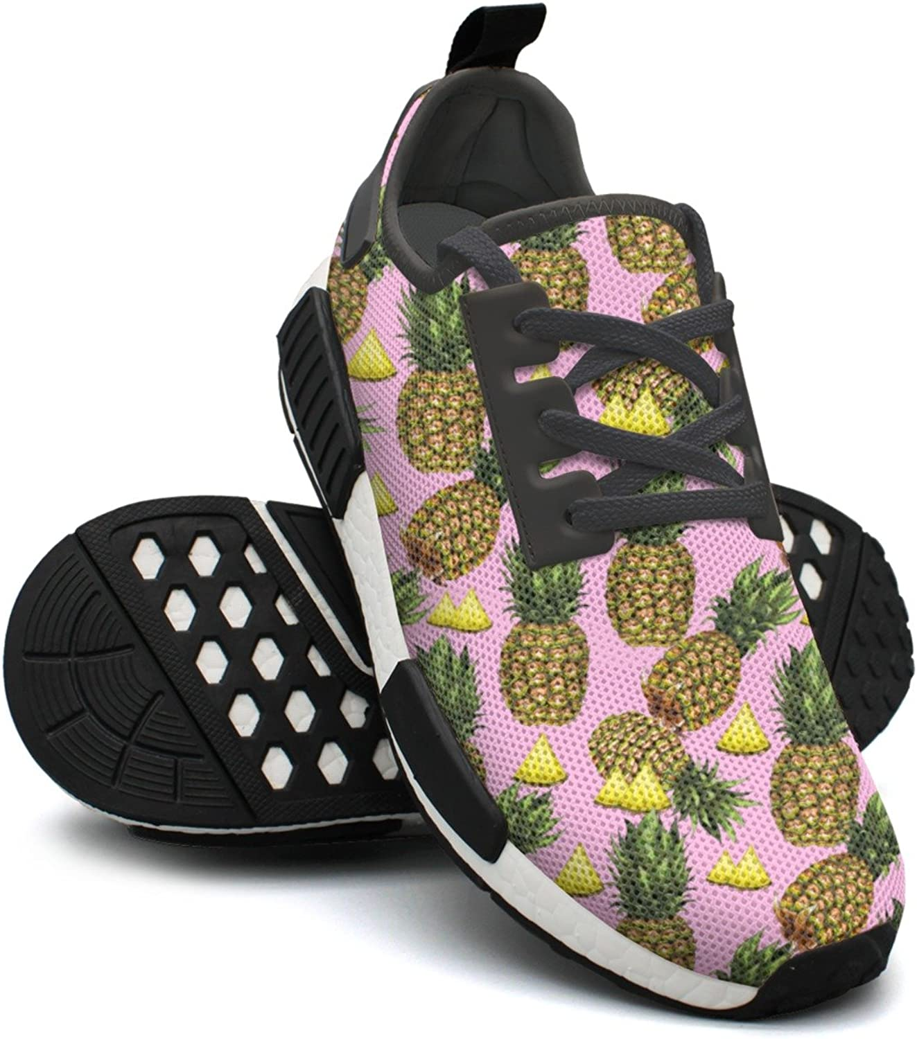 Summer Tropical Fruit Hand Drawn Pineapple Womens Jogging shoes Nmd Cute Gym shoes