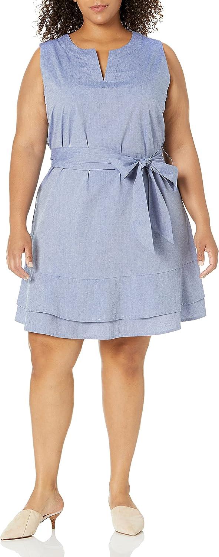 Amazon Brand Fashionable - Lark Ro Portland Mall Women's Striped Sleeveless Tie Shoulder