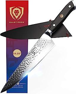 "DALSTRONG Chef Knife - 10.25"" Shogun Series X - Damascus - Japanese AUS-10V Super Steel - Hammered Blade Finish - G10 Hand..."