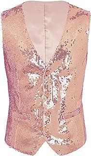 Everbeauty 2019 Gorgeous Party Sequin Vest Men for Costume Stylish Tuxedo Waistcoat MJ001