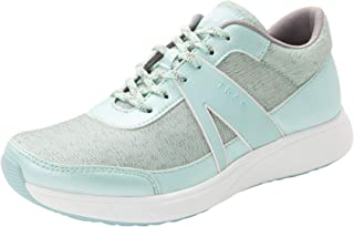 TRAQ BY ALEGRIA Qarma Womens Smart Walking Shoe Mint Dew 7 M US