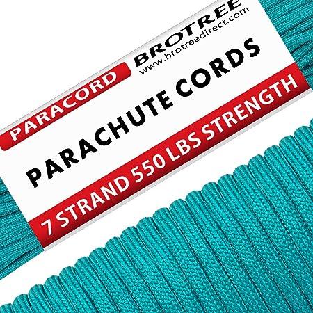 Brotree パラコード 4mm 7芯 テント ロープ ガイロープ ミルスペック 耐荷重250kg アウトドア キャンプ サバイバル固定用 (30m / 50m)