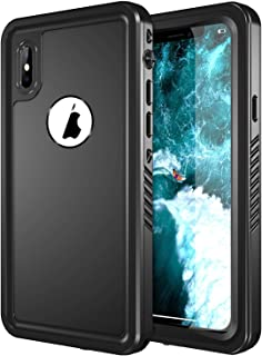 SPIDERCASE iPhone X Waterproof Case, Dustproof Snowproof Shockproof IP68 Certified Waterproof iPhone X Case Built-in Screen Protector Full Body Rugged Cover iPhone X/iPhone 10