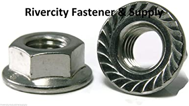 (5) M7-1.0 or 7mm x 1.0 Serrated Flange Lock Nut Stainless Spin Wiz Nuts - Durable and Sturdy, Good Holding Power in Different Materials