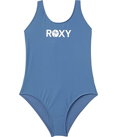 Roxy Kids Perfect Surf Time One-Piece Swimsuit (Big Kids) (Moonlight Blue) Girl