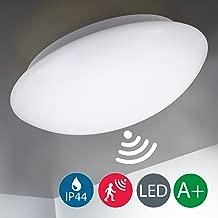 LED Deckenleuchte mit Radar-Bewegungssensor, Badezimmer geeignet, Bewegungsmelder, Außenbeleuchtung, Badezimmer, IP44