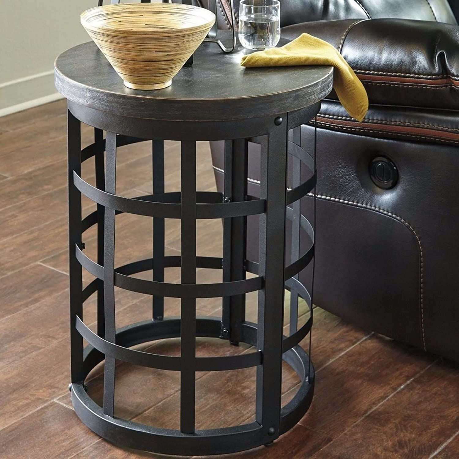 Shop Sting Black Round End Table