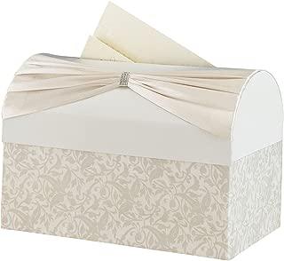 Lillian Rose Vintage Ivory Satin Wedding Reception Card Box