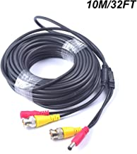 32FT 10M Pre-Made 2-in-1 BNC Video + Power DC Extension Cable for CCTV Security Camera Home Surveillance Closed-Circuit TV...