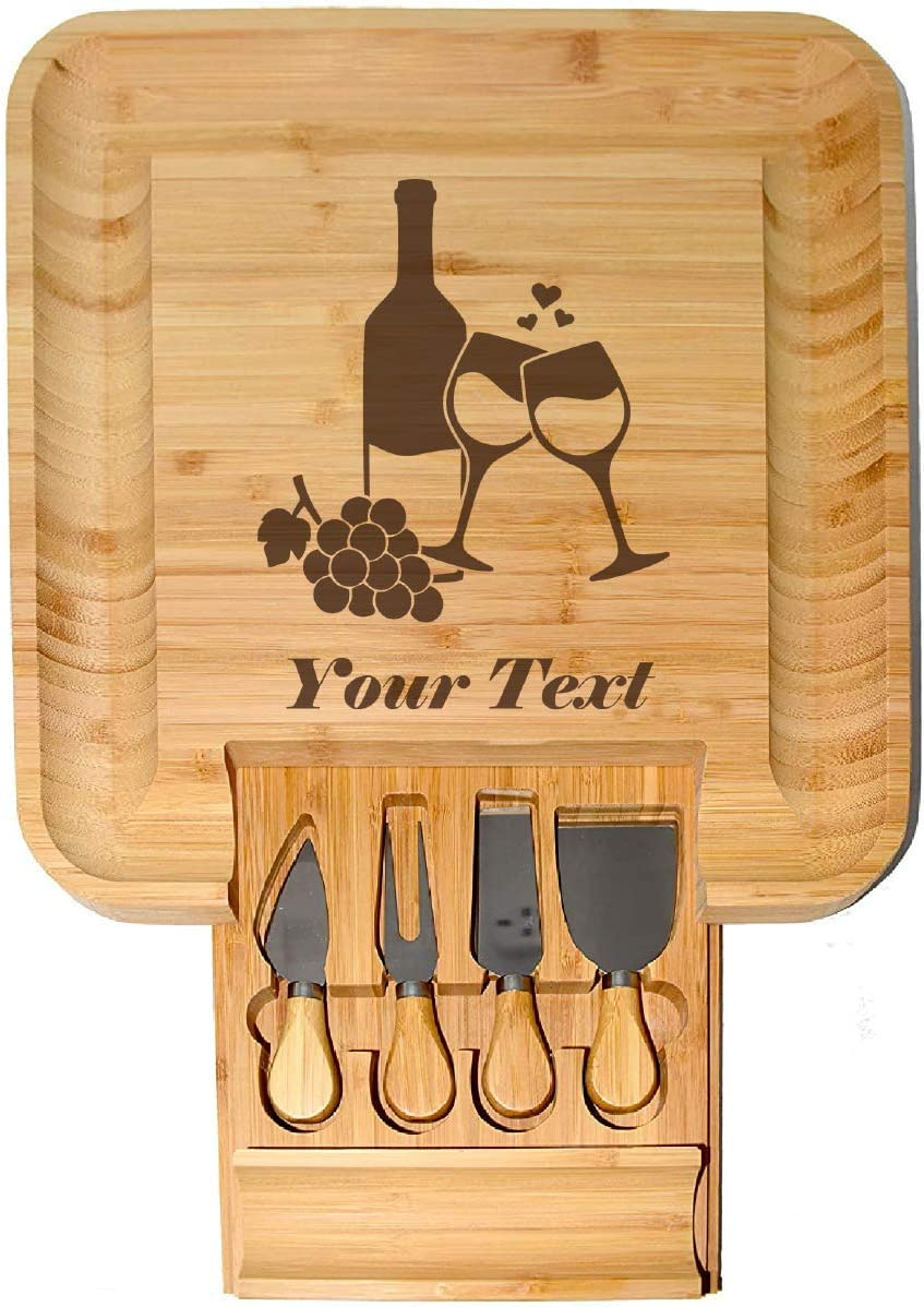 Personalized Custom Cheap super special price Wine Design Cheese Board Bargain sale Set - with Pe Knife