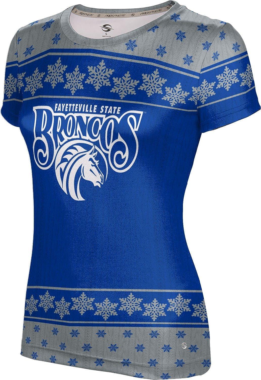 Fayetteville State University Ugly Holiday Girls' Performance T-Shirt (Snowflake)