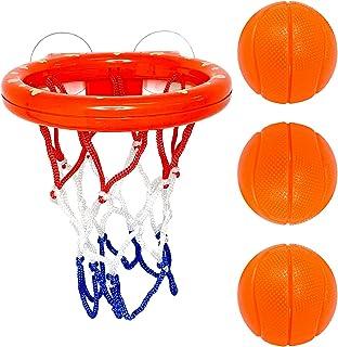 .p Kid Bath Toys حمام بسکتبال حلقه و 3 توپ تنظیم شده توسط 4U2BUY - اسباب بازی حمام قوی مخصوص بچه ها برای بچه ها - بازی تیراندازی توپ حمام برای بچه ها