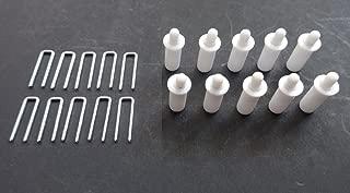 PLANTATION SHUTTER REPAIR KIT : 10 Tilt Rod Louvers Staples + PLUS + 10 Spring Loaded Shutter Pins