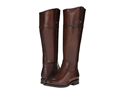 Frye Jayden Button Tall (Redwood Smooth Vintage Leather) Cowboy Boots