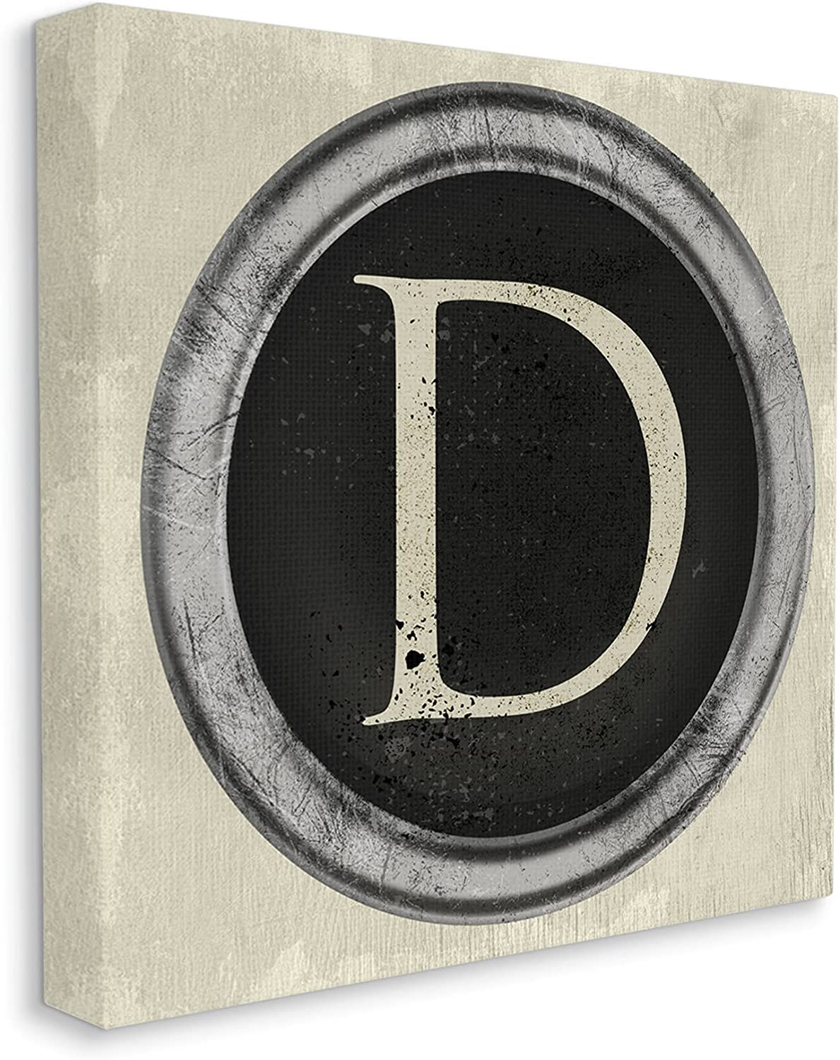 Stupell Industries Letter D Initial Max 68% OFF Milwaukee Mall Key Vintage Typewriter Shape