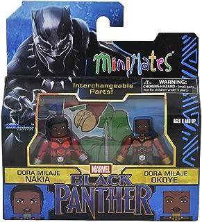 Marvel MiniMates - Black Panther - Dora Milaje Nakia & Dora Milaje Okoye