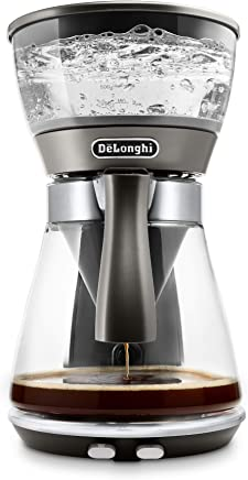 De'Longhi ICM17270 3-in-1 Specialty Brewer with certified SCA Golden Cup drip coffee Over Over Ice and Pour Over brewing methods, 8, Borosilicate glass
