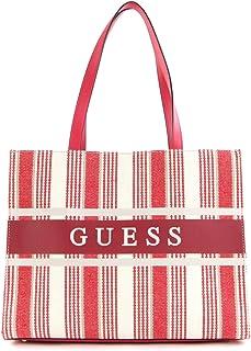 Guess Monique Tote Bag Red Stripe