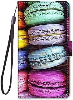 zl one Kompatibel med/ersättning för telefonfodral Nokia C2 PU-läderskydd söta målade kortplatser plånbok flip fodral (b19)