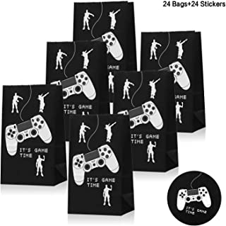 Devoltsom Video Game Party Supplies, Gaming Party Favor Bags Bouns Set of 24 Stickers For Kids Adults Birthday Party, Pop Game Party Decorations Loot Gifts Goodie Bags Set of 24.