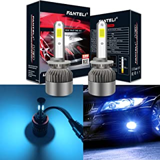 FANTELI 880 893 899 8000K Ice Blue LED Headlight Bulbs All-in-One Conversion Kit - 72W 8000LM 881 885 890 892 Fog Driving Lights Foglights Extremely Bright