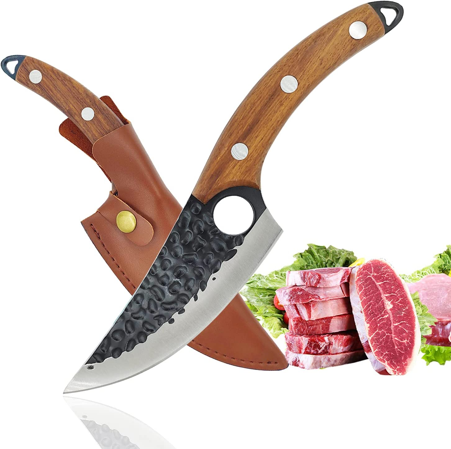 Butcher Knife Steak Boning knifes for and Max 86% OFF meat with Sheath Fille 5 ☆ popular